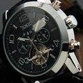 Jaragar turbilhão relógios pulseira de couro auto mecânica assista luminous mãos data dia de exibição relógio de pulso masculino horloge mannen
