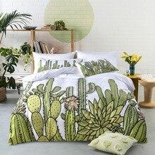 Cactus Plant Graphic 2 Or 3 Pieces Bedding Set Home Textile Duvet Cover Pillow Case Microfiber Soft Durable Machine Washable