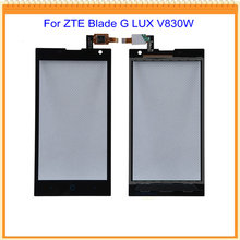 100% Guarantee New Black/White TP For ZTE Blade G LUX V830W Touch Screen Digitizer Glass For ZTE Kis 3 Max V830W touchscreen