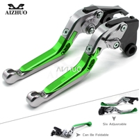 CNC Aluminum Motorcycle Accessories Brake Clutch Levers Adjustable Folding Extendable FOR KAWASAKI Z750 Z 750 2007 2012 08 09 10