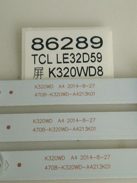 3 adet/grup TCL LE32D59 TV Işık Çubuğu 4708 K320WD A4213K01 8 Işık Boncuk