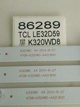 3 sztuk/partia dla TCL LE32D59 telewizor z dostępem do kanałów światło Bar 4708 K320WD A4213K01 8 światła koraliki