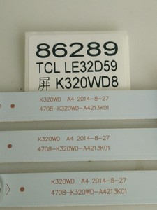Image 1 - 3 teile/los FÜR TCL LE32D59 TV Licht Bar 4708 K320WD A4213K01 8 Licht Perlen