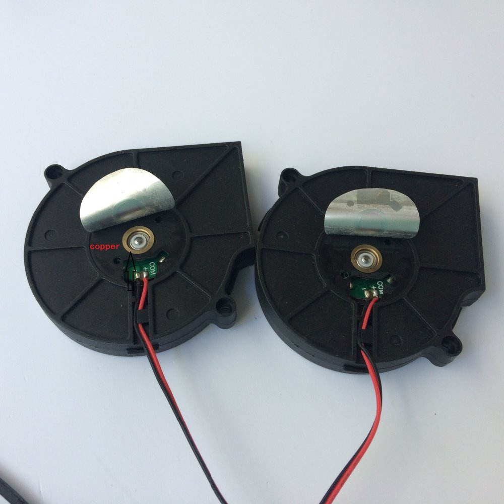 Купить с кэшбэком 1 Pair PC Blower Cooling Fan for Computer 75*75*15mm 12V PC Radiator Computer Blower Cooler Fan Two Ball Bearing Heatsink