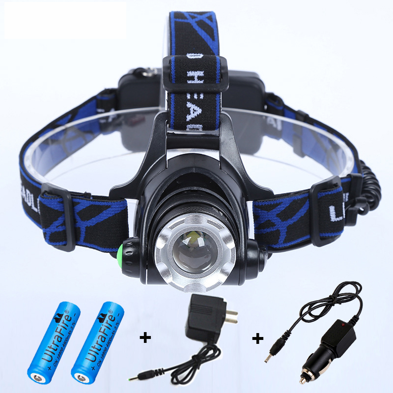 <font><b>Best</b></font> Seller!Professional 3 Modes Cree XML T6 Headlight Waterproof Zoomable Bright 18650 Headlamp for Fishing Hiking Camping