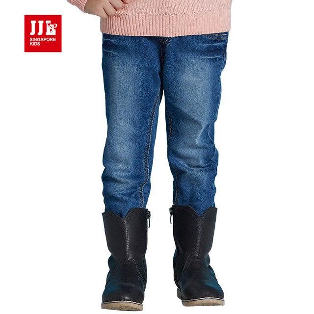 1-7 т девушки джинсы дети джинсовые брюки девушки осень одежда тонкий джинсы для девочки дети мода повседневная брюки