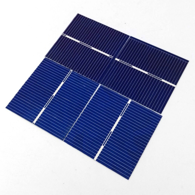 Aoshike 100pcs 0.5V 0.25W 0.5A 39 * 39mm Polycrystalline Silicon Solar Panel DIY Charger Battery Solar Cell