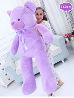 large lavender bear teddy bear plush toy soft doll hugging pillow Christmas gift w1323