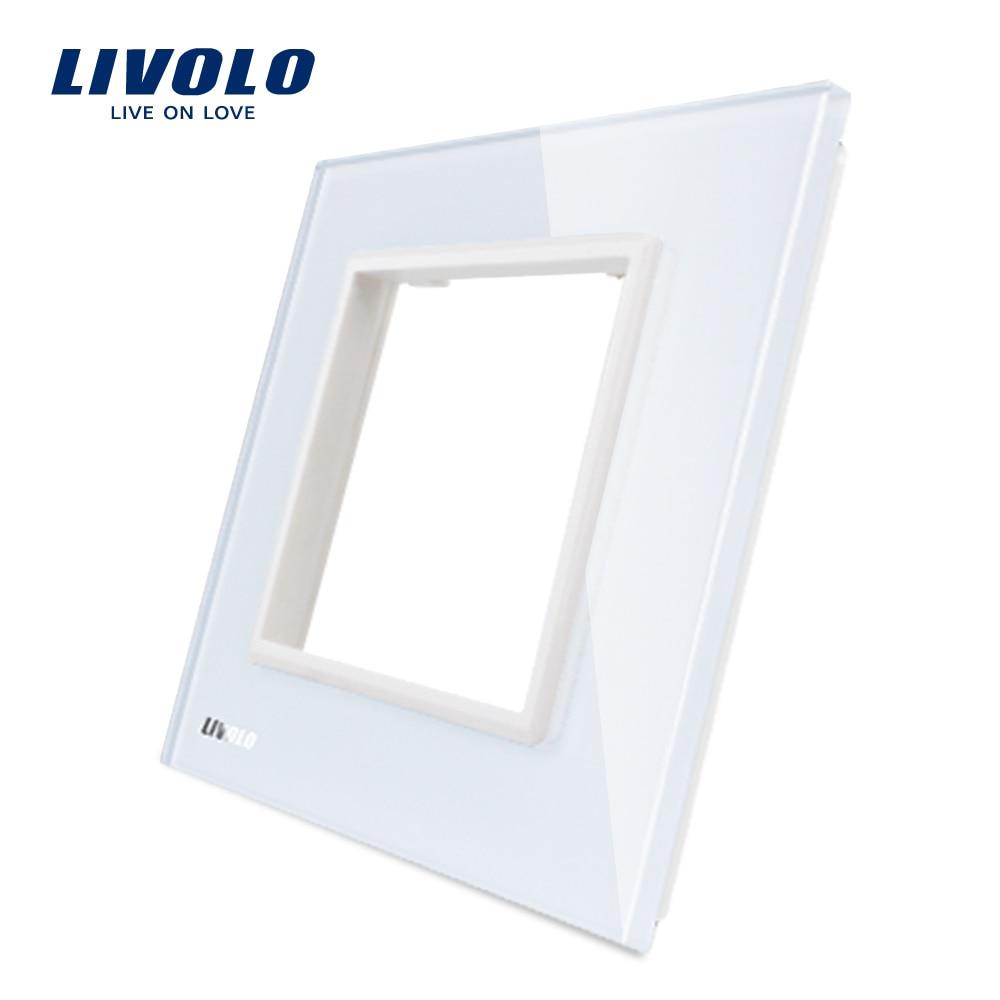 single glass panel for wall switch sockets luxury golden crystal glass 86mm 86mm uk standard glass panel Livolo Luxury White Pearl Crystal Glass, 80mm*80mm, EU standard, Single Glass Panel For Wall Switch Socket,VL-C7-SR-11