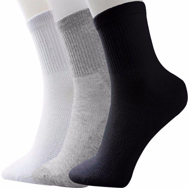 High Quality Casual Men's Business Socks For Men Cotton Comfort Foot Anti Fatigue Black White Gray Socks Swell Ankle Sokken R5