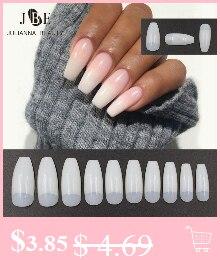 120 шт накладные ногти на шпильках с коротким заостренным носком