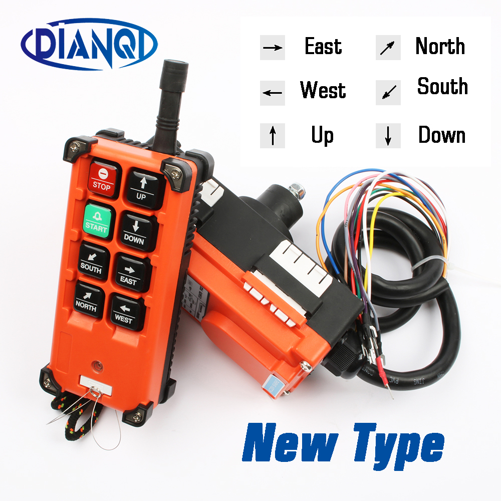 Industrial remote switches Hoist industrial Direction wireless Crane Radio Remote System switch 1receiver+ 1transmitter F21 E1B-in Switches from Lights & Lighting