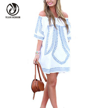Yejia Fashion Off Shoulder Summer Dress font b Clothes b font For Pregnant Women Casual Loose