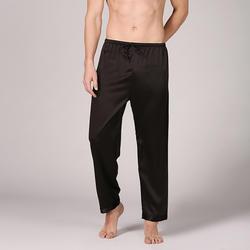 BZEL Мужские пижамные штаны для отдыха шелковые атласная пижама Homme Full-длинная пижама брюки мужские пижамы атласные для весны и лета