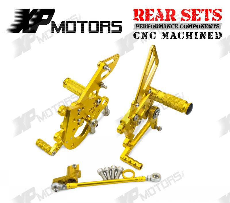 CNC Racing  Adjustable Rear Sets Foot pegs Fit For Aprilia RSV4 Factory 2009 2010 2011 2012 2013 2014 Gold cnc racing rearset adjustable rear sets foot pegs fit for yamaha yzf r1 2009 2010 2011 2012 2013 2014 red