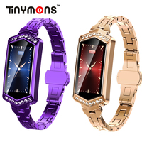 Tinymons B78 Smart Watch Women IP67 Waterproof Heart Rate Monitor Metal Strap Fitness Smart band Bracelet For Android IOS Phone
