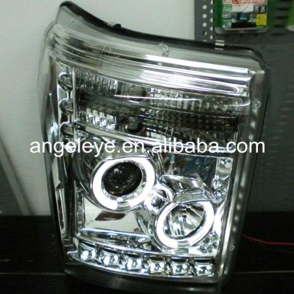 Для Форд Raptor F250 F350 F450 F550 super duty свет голову CCFL Ангельские глазки серебр ...