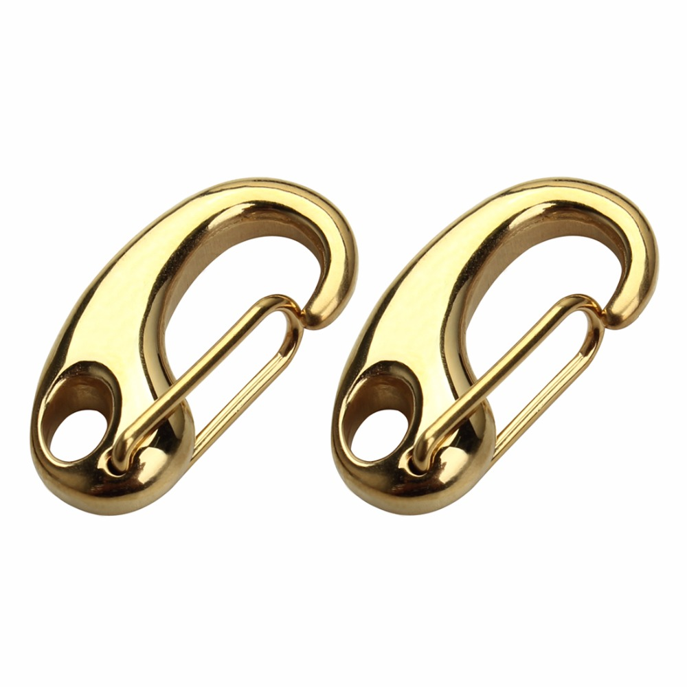 LOULEUR 2pcs Stainless Steel Keychain Spring Lobster Clasps for Climbing Backpack Lobster Clap Fit DIY Jewelry Making Findings in Jewelry Findings Components from Jewelry Accessories