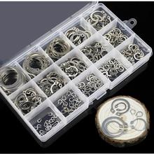 225 шт./компл. 15 видов 304 нержавеющая сталь внутреннее стопорное кольцо 3 мм-25 мм стопорное кольцо набор