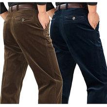 fe8323b64ca2e Sztruks spodnie luźne średnim wieku biegaczy mężczyzn w średnim wieku tata  zainstalowane w jesienią i zimą