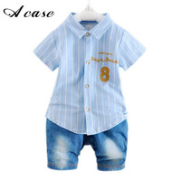 New Arrival Summer Baby Boy Clothes 2017 Fashion Gentlemen Children Suit For Baby Boys 1 2