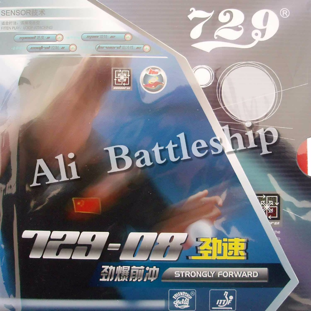Original RITC 729 Friendship 729-08  Pips-in Table Tennis Rubber With Sponge For Pingpong