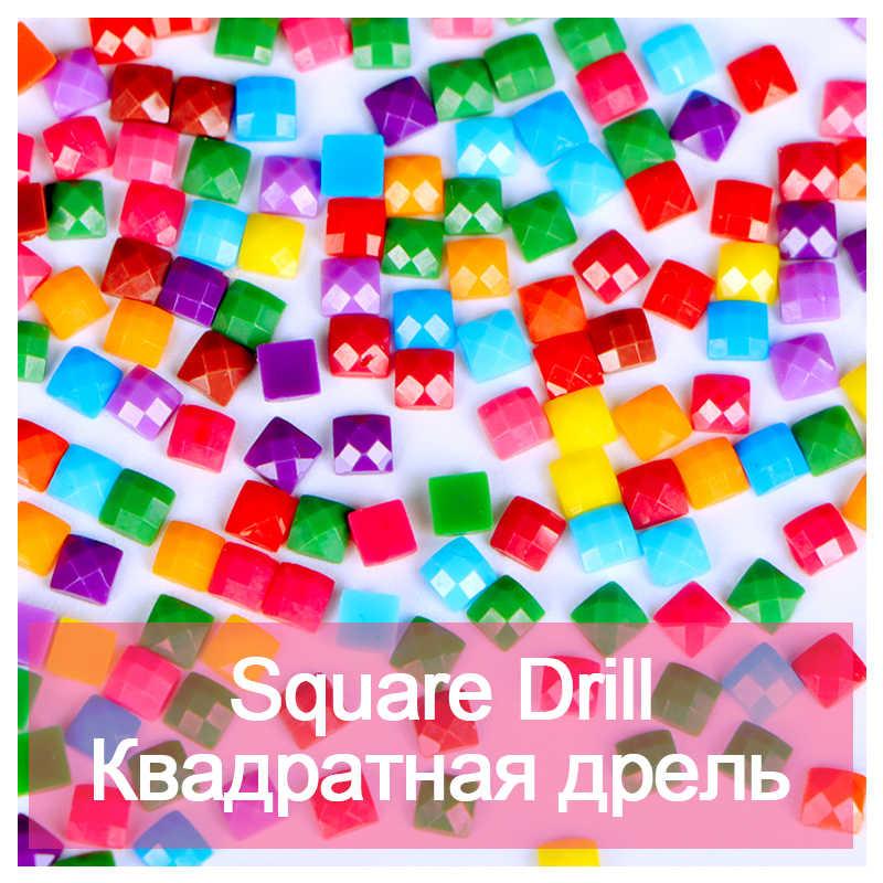 Полный квадратный дрель 5D DIY бриллиантовый рисунок Рождество игрушка Алмазная вышивка мозаика вышивка крестиком горный хрусталь Декор HYY