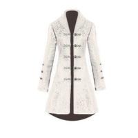 Women's Autumn Winter Jacket Coats Female Fashion Jacquard Blazer Punk Jacket Party Cosplay Retro Button Long Coat Jackets z0601