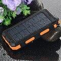 À prova d' água Solar Banco de Energia Solar Carregador de Banco de Potência Dupla USB com luz led powerbank para iphone 6 plus para samsung telefone