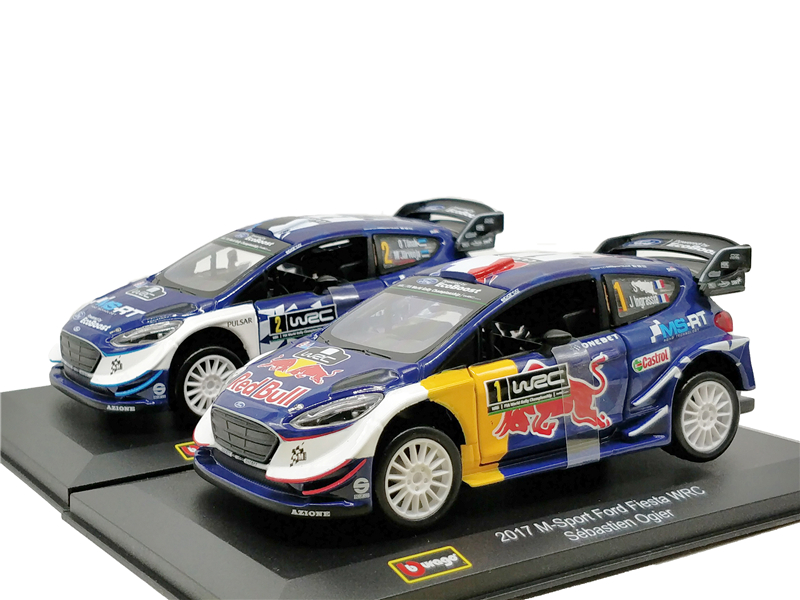 Bburago 1:32 Redbull M-Sport Ford Fiesta WRC Diecast Model Car Miniature Vehicle Racing