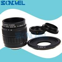 FUJIAN 35mm F1.7 CCTV lente Filme TV + C Monte + anel Macro para Sony E Monte Nex-7 Nex-6 Nex-F3 Nex-5T Nex-5R A6300 A6500 A6100 A5100