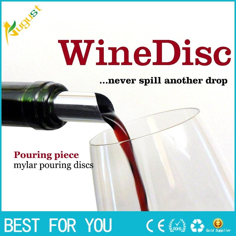 100pcs/lot Practical Disk Pourer Wine Whisky Foil Pourers Stop Drop Spout Wine Tasting Party Gift Bar Tools Wine Pourer