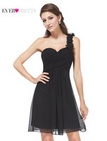 Clearance Sale Ever Pretty Short Cocktail Dresses A Line Chiffon Sleeveless One Shoulder Backless Sexy