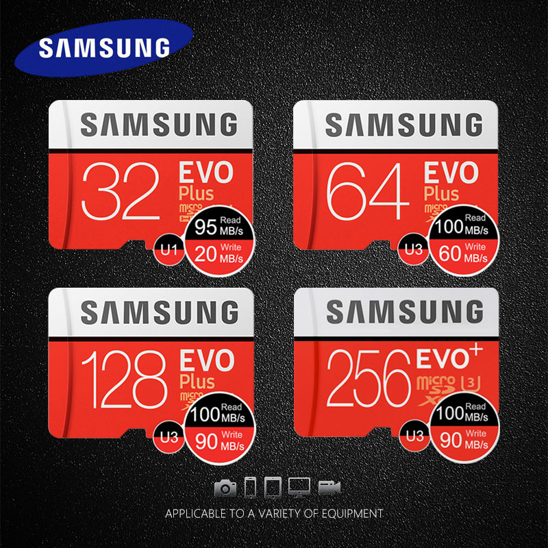 Original Samsung Memory Card 32GB 64GB 128GB Micro SD Card 256GB SDHC SDXC C10 UHS TF Card high speed Trans Flash