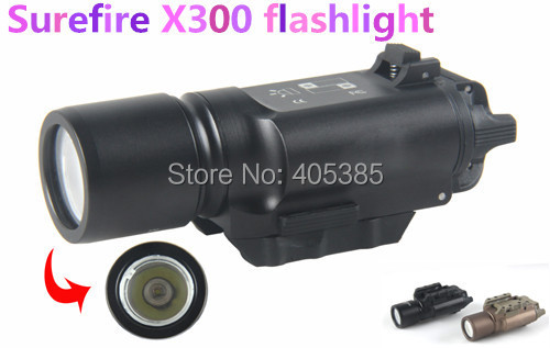 ФОТО Free shiping  X300 Ultra LED Tactical Flashlight Weapon Light  For Hunting For Airsoft