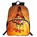 Chinese Cartoon Character Backpack Vintage Calabash Brothers School Bag For Teens Boy Girls Nylon Backpack Rucksack mochilas