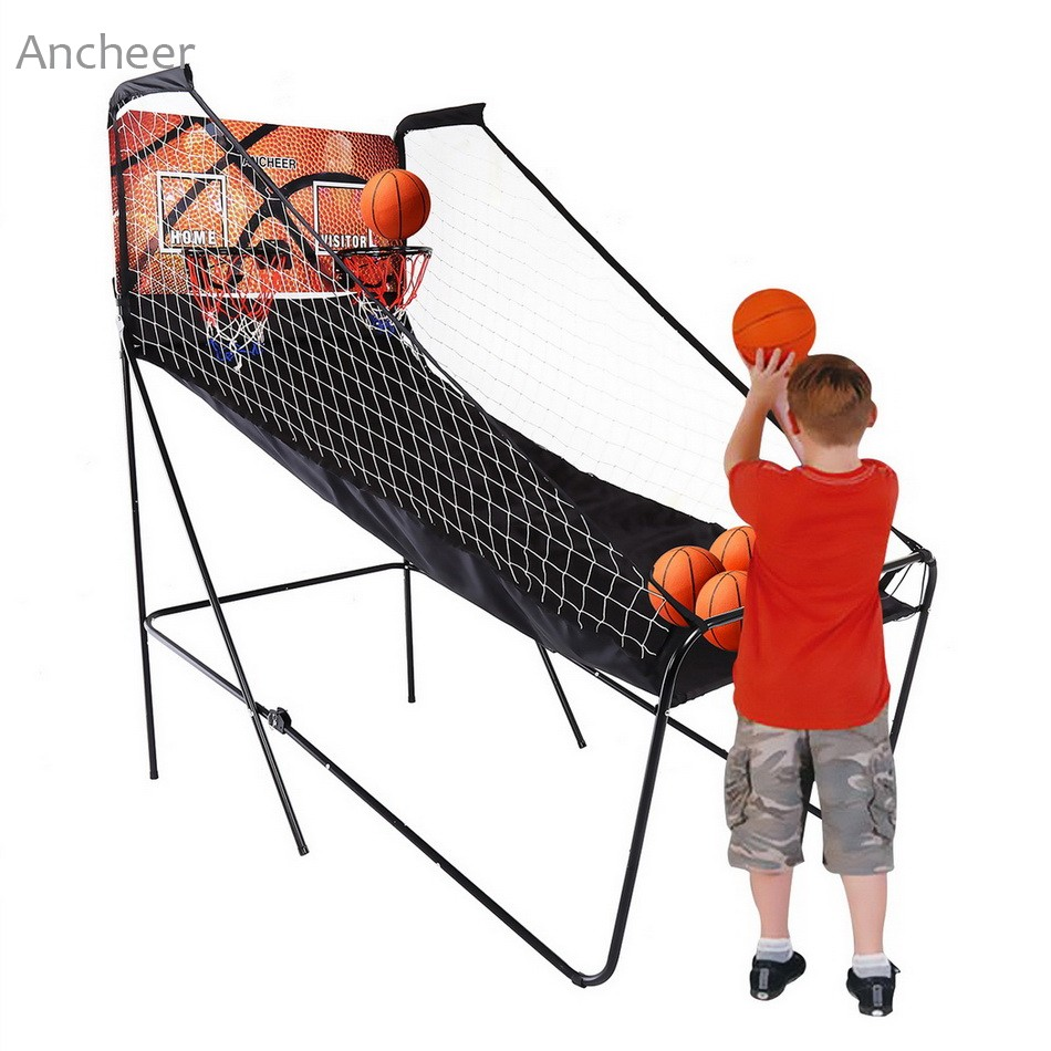 Ancheer Outdoor Fitness Equipment Basketball Double Shot Arcade System Foldable напиток mychoice nutrition my fitness collagen liquid wellness shot шоколад 9 x 60 мл