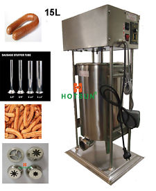 Free Shipping 15L Heavy Duty Auto Electric Spanish Churros Machine N Sausage Salami Stuffer дырокол deli heavy duty e0130