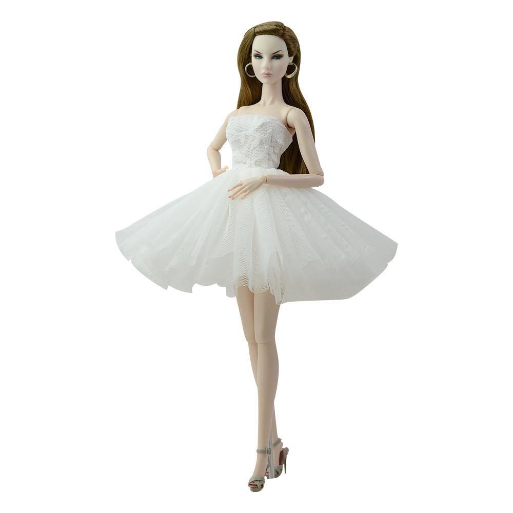 NK 2020 Newest Doll Dress Short Ballet Dresses For Barbie Doll Clothes Fashion Clothes For Barbie Dolls Outfits 1/6 Doll 085D