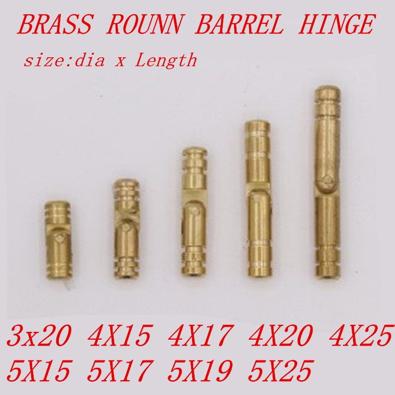 10pcs 10 type 3mm 4mm 5mm Solid Brass copper Jewelry Chest Music Box Wine Wooden Case Hidden Invisible Concealed Barrel Hinge(China)