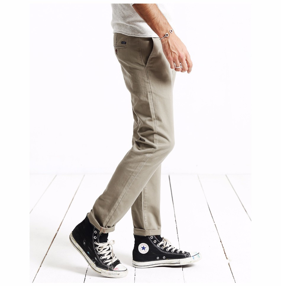 HTB1SqgJgCzqK1RjSZFpq6ykSXXaB Simwood Brand Autumn Winter New Fashion 2019 Slim Straight Men Casual Pants 100% Pure Cotton Man Trousers Plus Size KX6033
