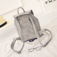 Toposhine Famous Brand Women Backpacks Solid Vintage PU Leather