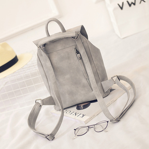 Image 4 - Toposhine Famous Brand Backpack Women Backpacks Solid Vintage Girls School Bags for Girls Black PU Leather Women Backpack 1523