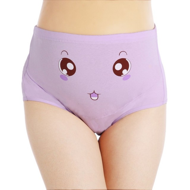 5bee3f53b108e 2018 Pregnant Panties High Waist Mother Belly Support Underwear Cartoon  Postpartum Briefs Pregnancy Short Pants
