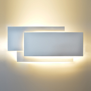 Image 2 - Modern Creative 18W LED Wall Lamp Living Room Aisle Staircase Square Lamps Bedroom Bedside Black/white Wall Light