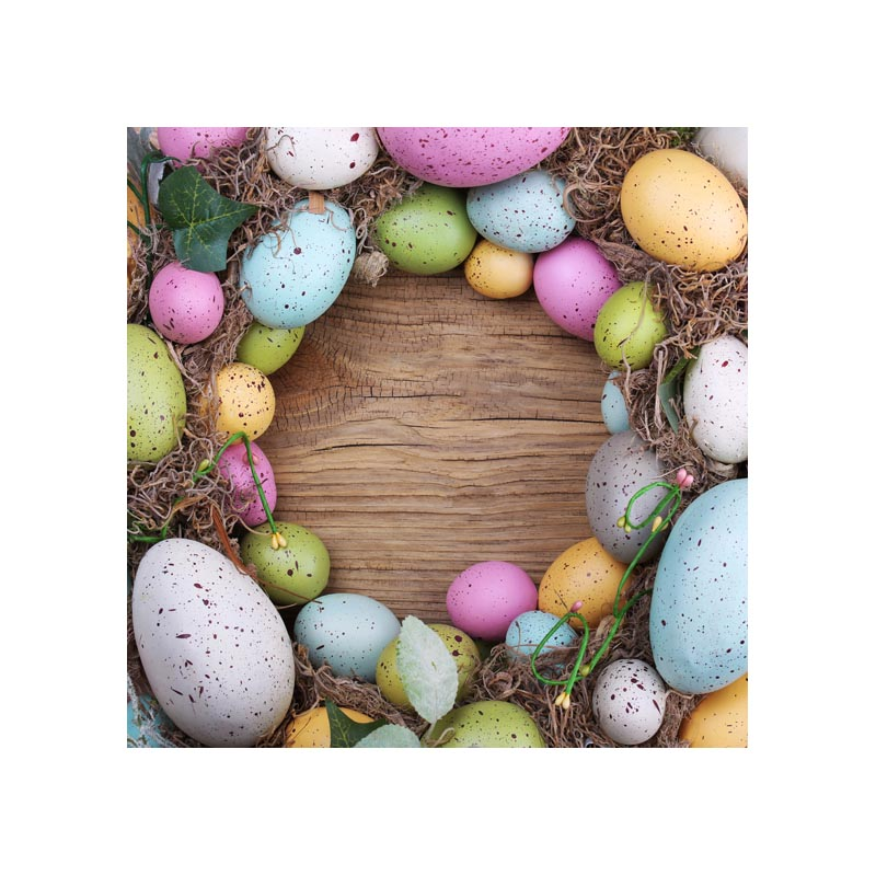 Thin fabric colorful Easter eggs with woos photography backdrops for photo studio taking newborn pictures 5X5ft GE-127