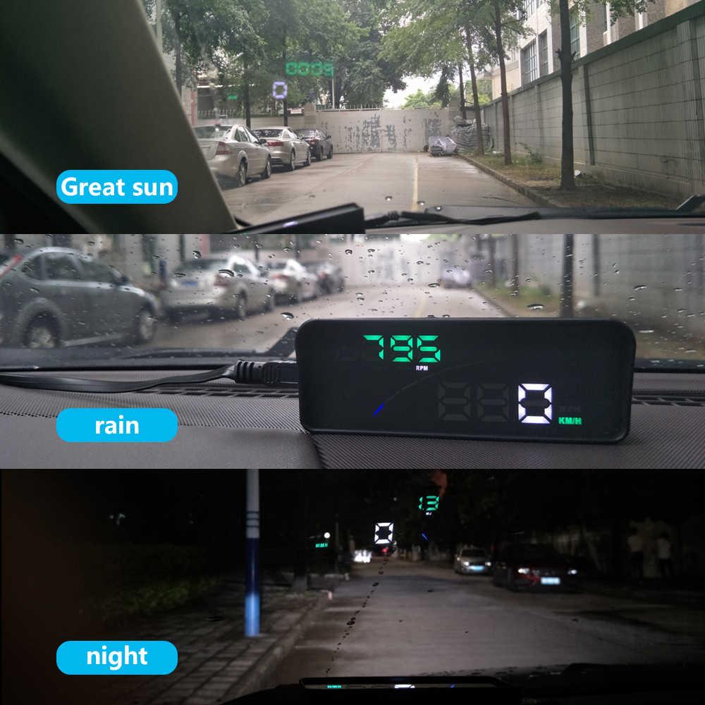 Geyiren P9 hud 車のヘッドアップディスプレイ obd ii eobd フロントガラスプロジェクタースタイリング 2 システムディスプレイ自動車の付属品車のスタイリング