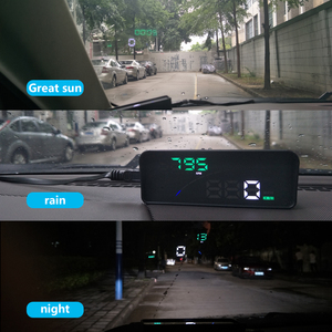 Image 5 - WiiYii P9 Auto HUD Head Up Display OBD II EOBD Parabrezza Proiettore Styling Due display del sistema di Auto Accessori Auto styling