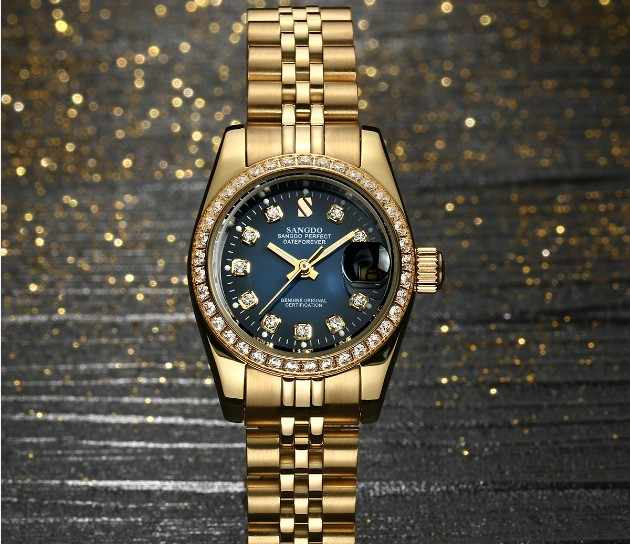 28MM SANGDO Automatic Self-Wind movement  High quality Luxury Women's watches Plating 18KY Mechanical watches 06S