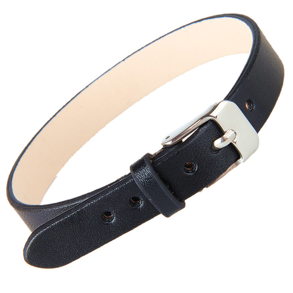 Unisex Men Leather Belt Bracelets & Bangles Adjustable Women Leather Wrist  Cuff Buckle Punk Bracelet New